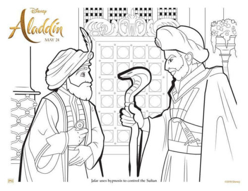 Aladdin 2019 Pages To Color