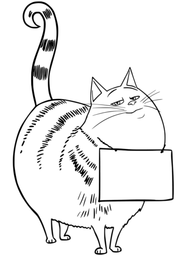 Chloe Cat from The Secret Life of Pets 2 Coloring Picture