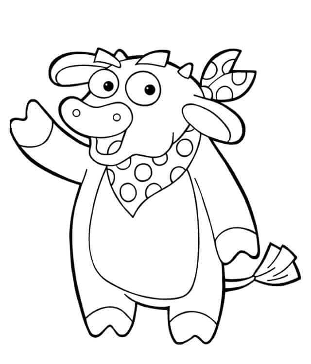 Coloring Pages Of Cow