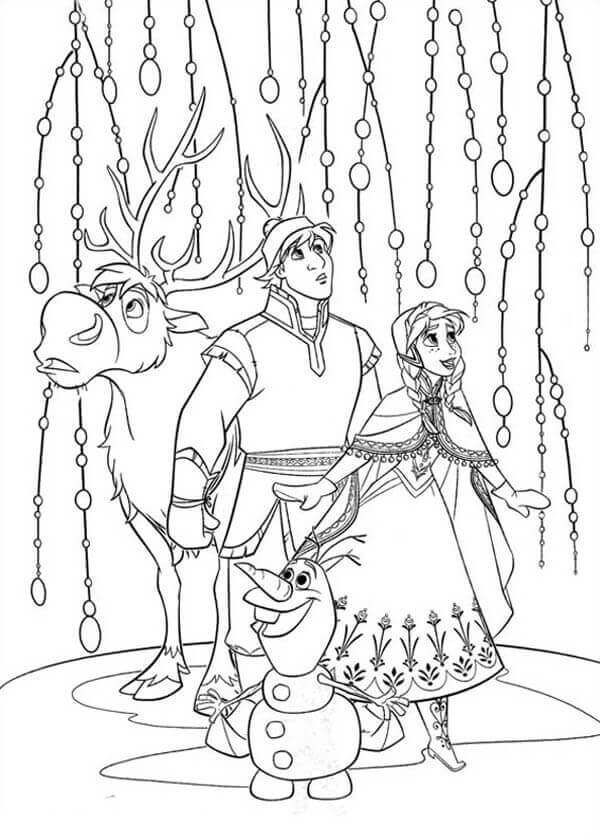 Coloring Pages Of Frozen Movie