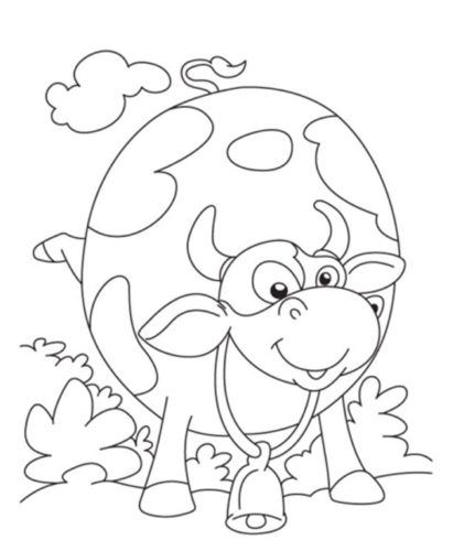 Cow Colouring Pages Printable