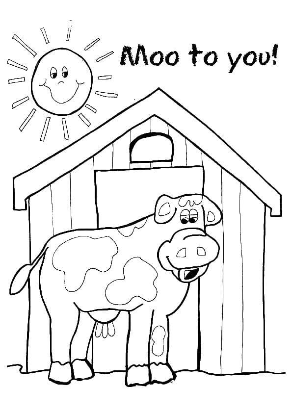Cow Moo Coloring Page