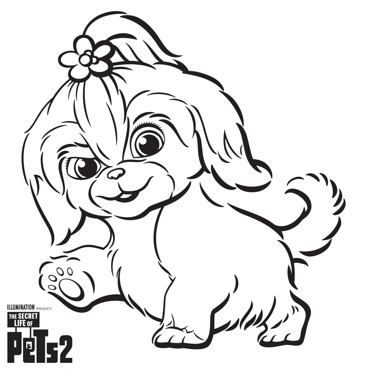 Daisy from The Secret Life Of Pets 2 Coloring Sheet