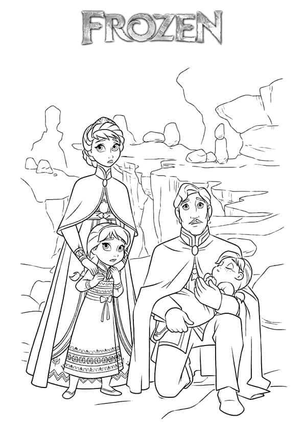 Free Frozen Coloring Pages Online
