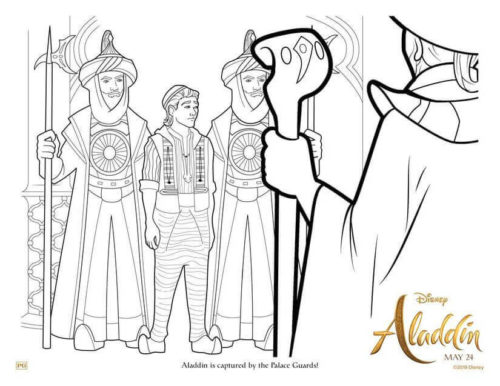 Free Printable Aladdin 2019 Coloring Page