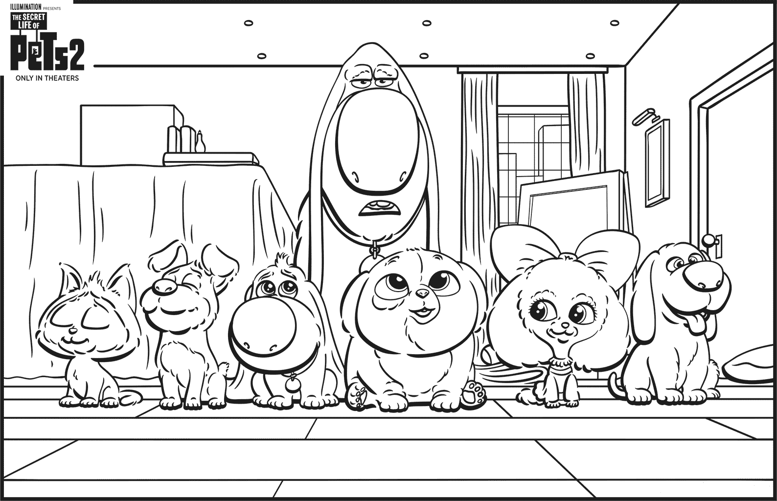 Free Printable The Secret Life of Pets 2 Coloring Pages