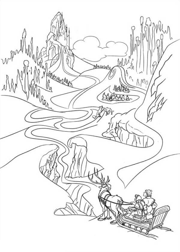 Frozen Coloring Pictures To Print