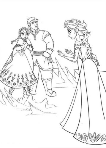 Frozen Colouring Pages