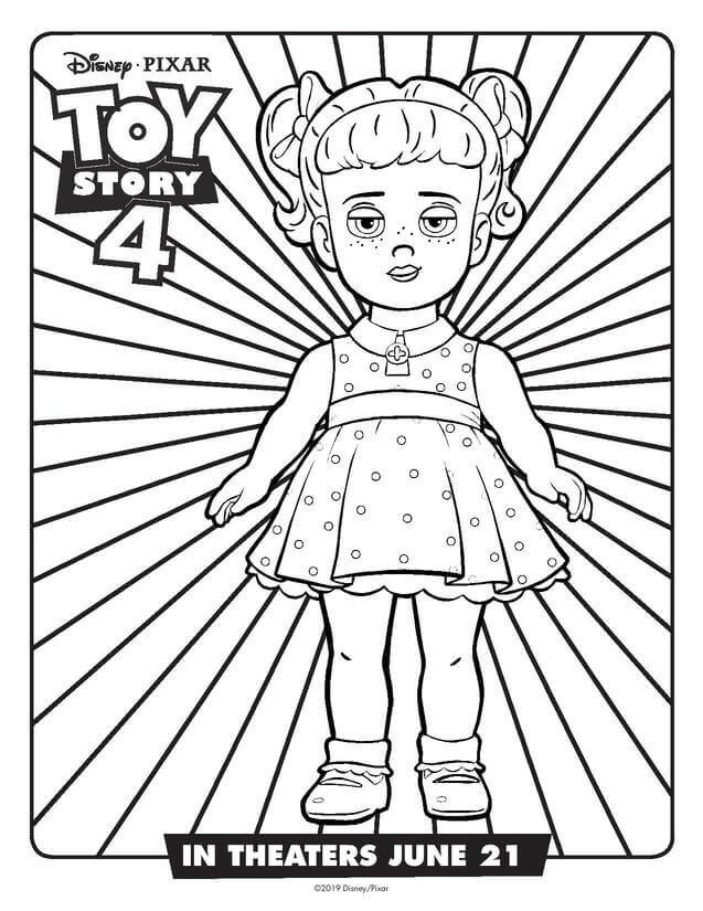 Gabby Gabby From Toy Story 4 Coloring Sheet