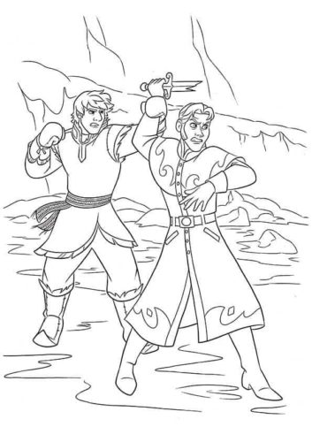 Hans And Kristoff Fight