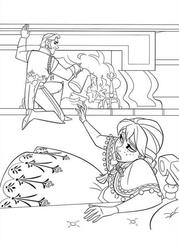 Hans Trying To Kill Elsa