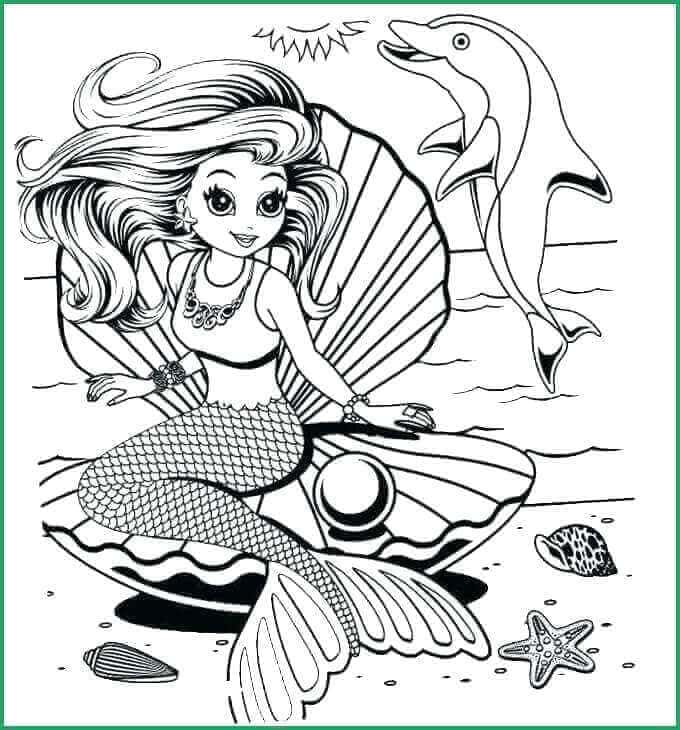 Lisa Frank Dolphin Coloring Page