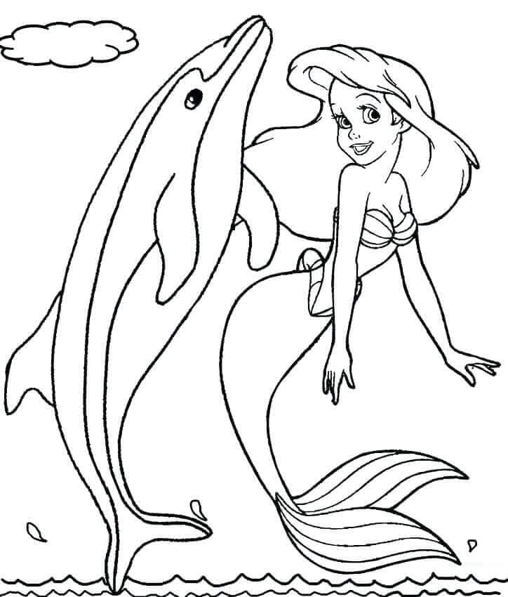 Little Mermaid With Dolphin