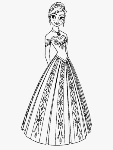 Princess Anna Coloring Page