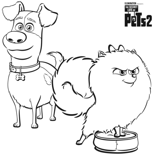 The Secret Life Of Pets 2019 Coloring Pages Printable