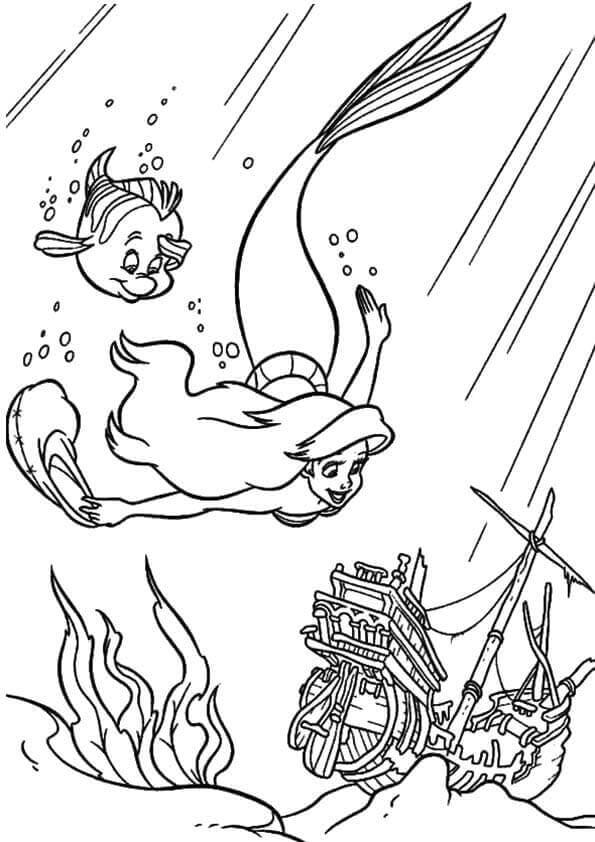 Ariel Heading Towards A Ship