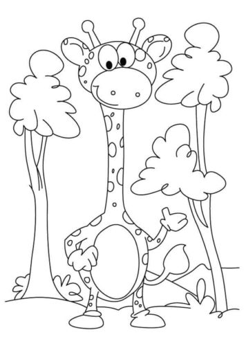 30 Free Giraffe Coloring Pages Printable