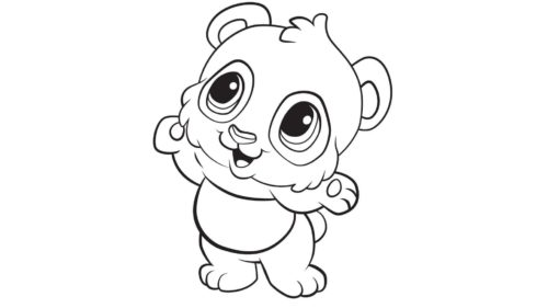 Giant panda Cute Colouring Coloring book Child Bear, lps panda bear coloring  pages, png | PNGEgg | 281x500