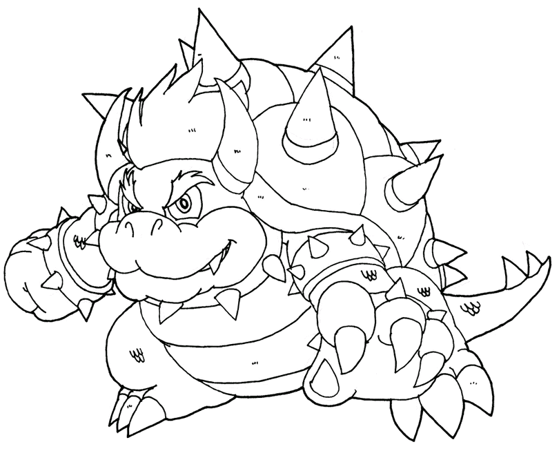 Bowser Coloring Page