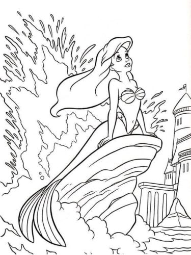 Free Ariel Coloring Pages Printable