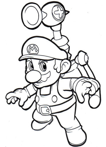 Free Mario Coloring Pages Printable