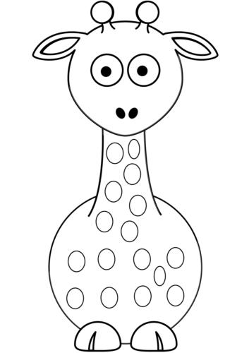 Giraffe Coloring Printables