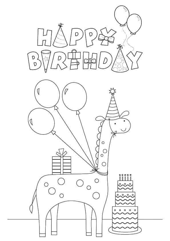 Giraffes Birthday
