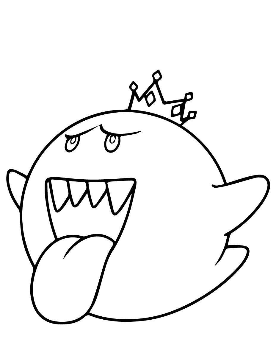 King Boo Mario Kart Coloring Page