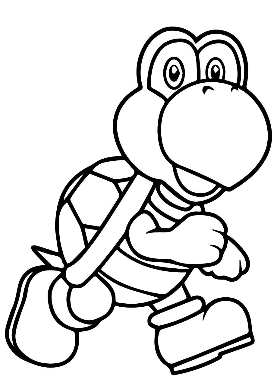 Koopa Troopa From Mario Bros Coloring Page