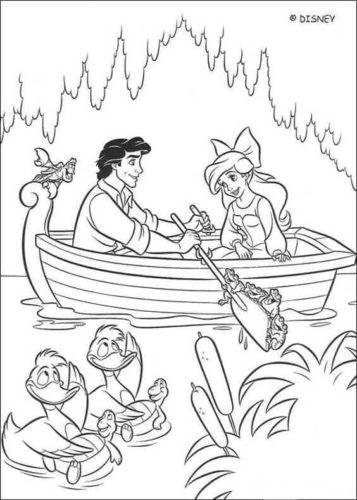 Little Mermaid Coloring Pages Free