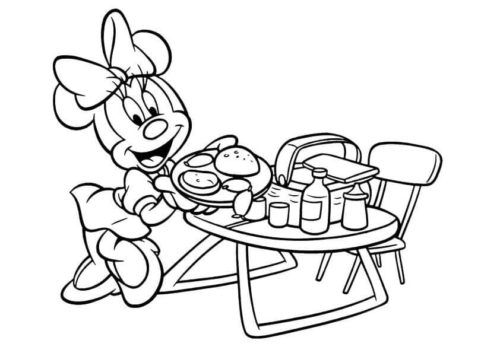 Minnie Mouse Coloring Pages Printable