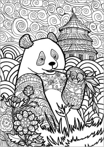 Panda Coloring Pages For Adults