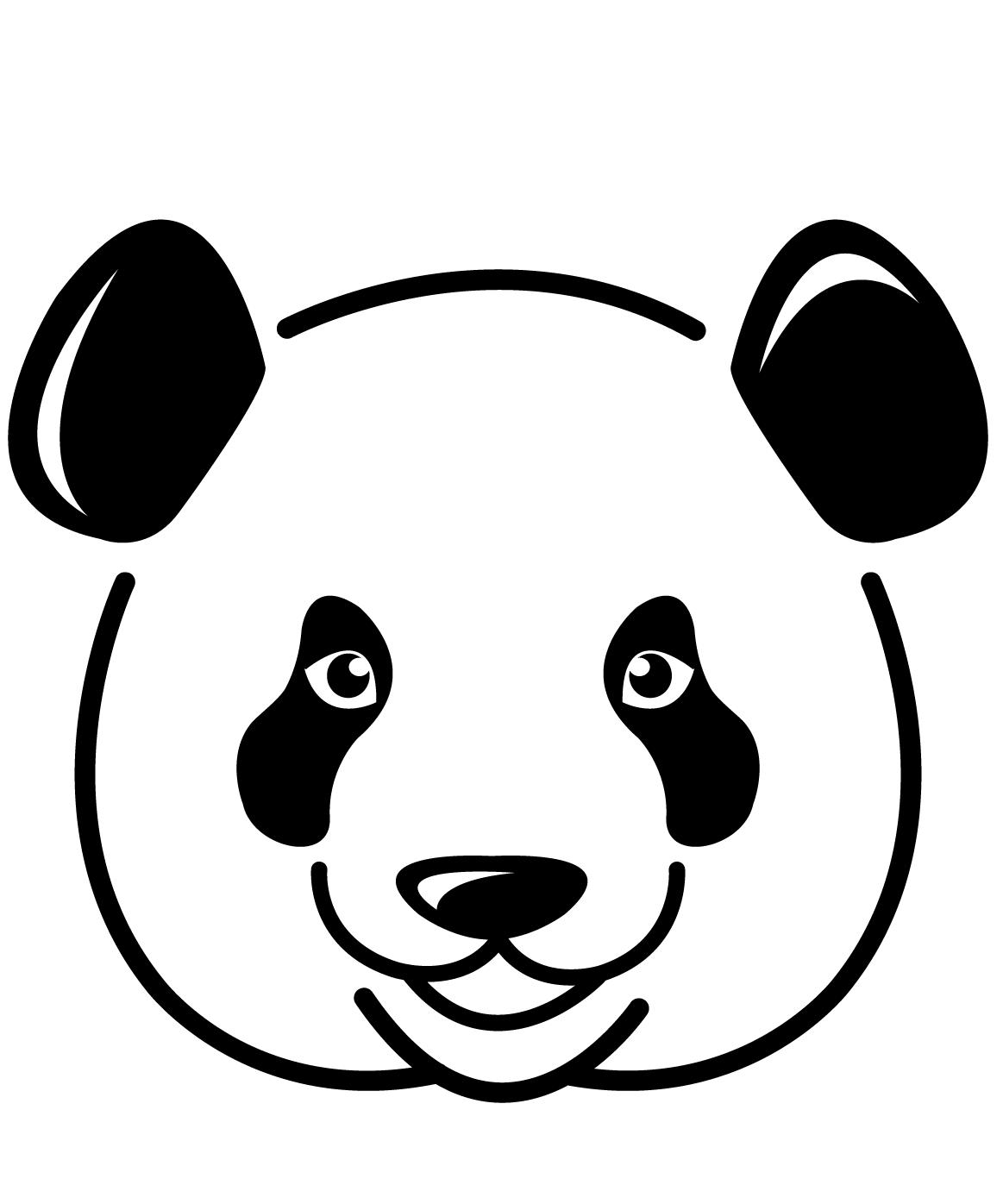 Panda Face Coloring Page