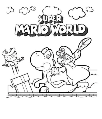 Super Mario World Coloring Page