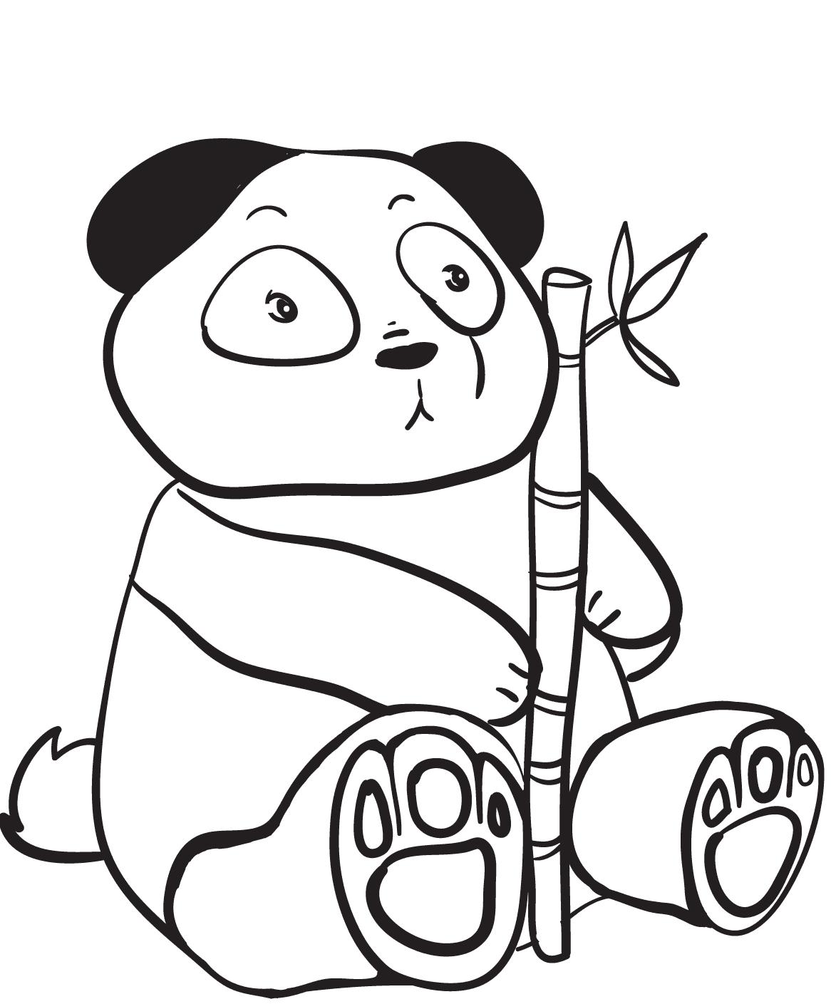 Surprised Panda Coloring Page