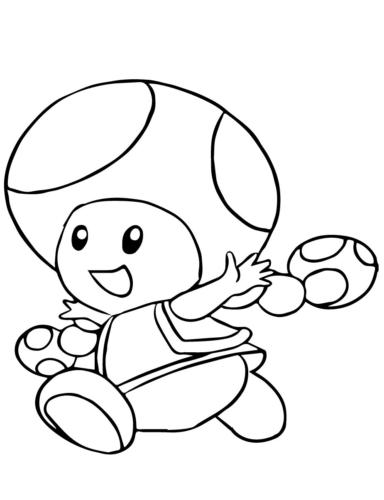 Toadette Mario Coloring Page