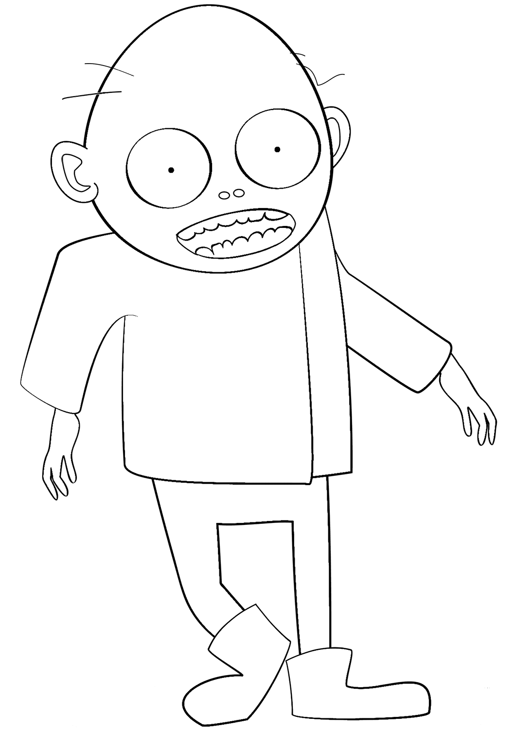Zombie Coloring Page For Preschoolers