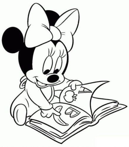 Baby Mickey Studying