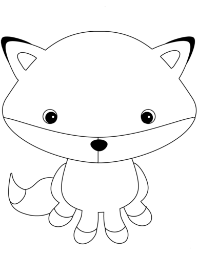 Cartoon Fox Coloring Page