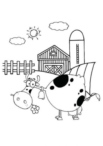 Dairy Farm Coloring Page