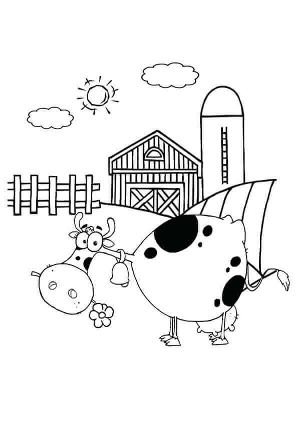 Dairy Farm Coloring Page
