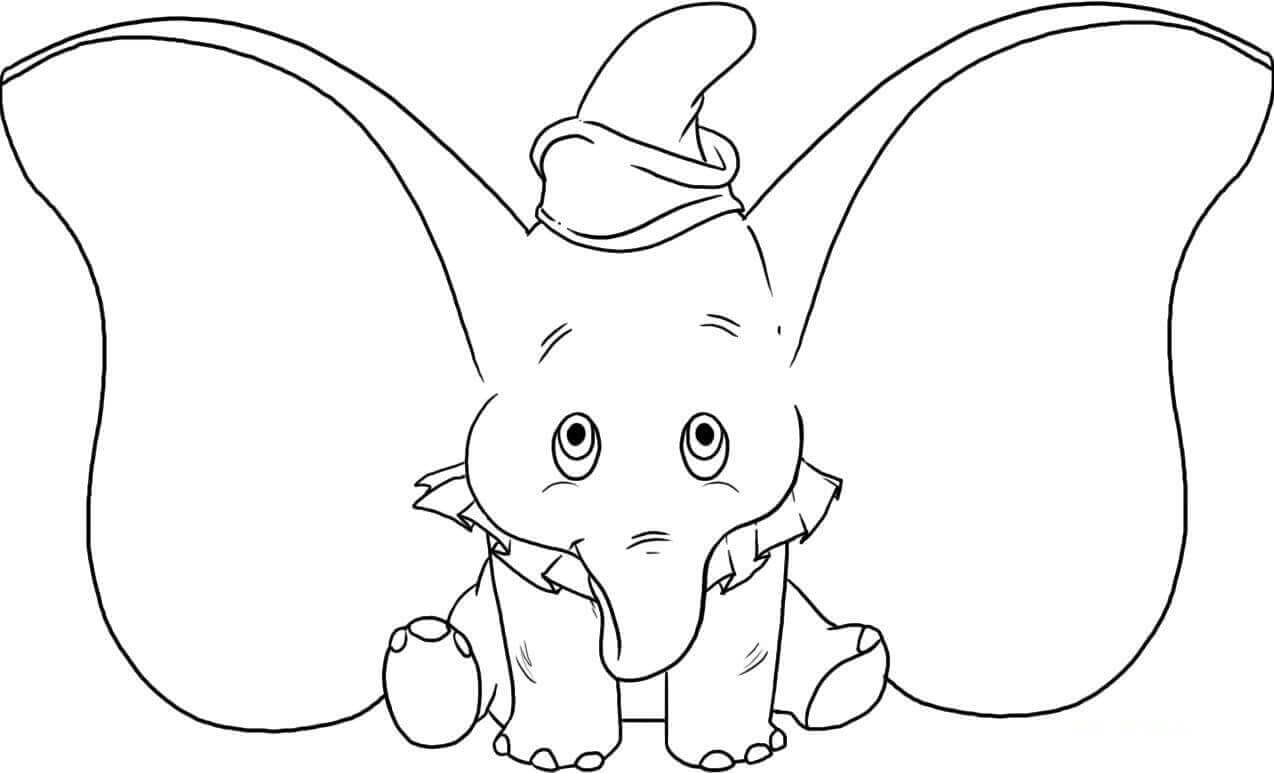 Dumbo Elephant Coloring Page
