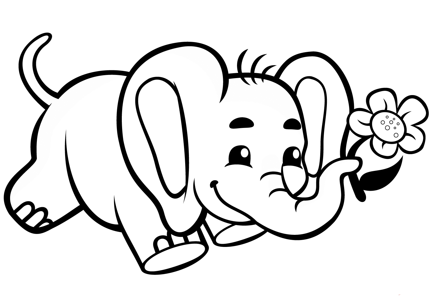Elephant Coloring Pictures