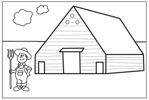 Farm Coloring Page For Preschoolers