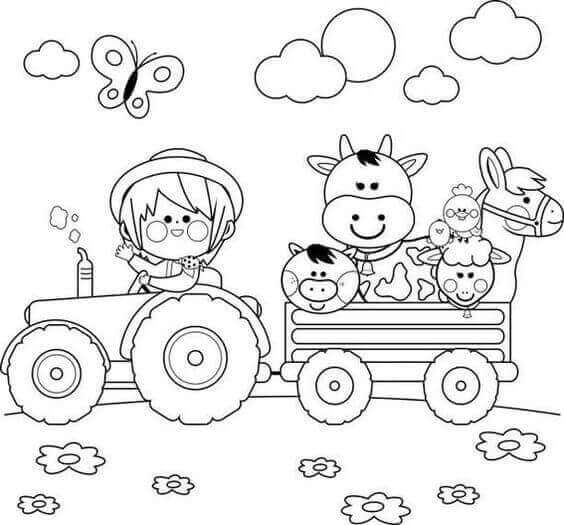 Farm Coloring Pages For Toddlers