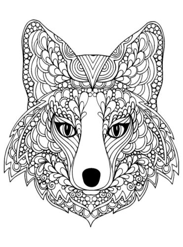 Fox Coloring Page For Adults