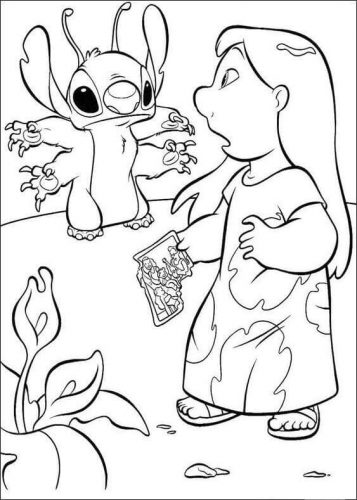 Leroy And Lilo Coloring Page