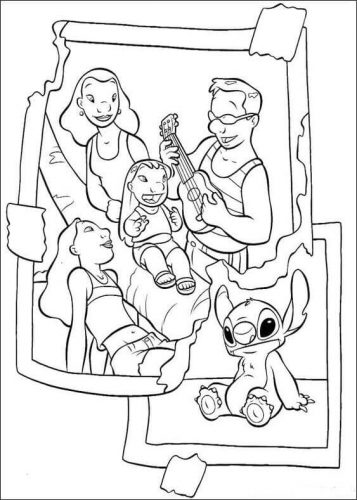 Lilo And Stitch Colouring Pages