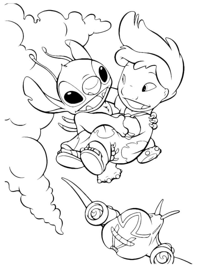 Lilo Saving Stitch