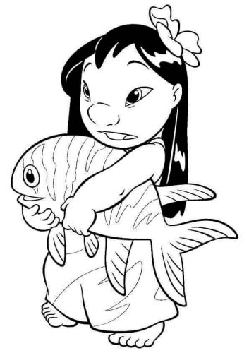 Lilo With A Big Fish